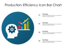 Production Efficiency Icon Bar Chart