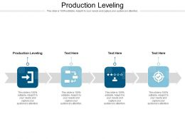 Production Leveling Ppt Powerpoint Presentation Summary Tips Cpb