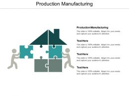 Production Manufacturing Ppt Powerpoint Presentation Ideas Structure Cpb