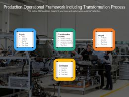 Production Operational Framework Including Transformation Process