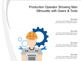 Production Operator Showing Man Silhouette With Gears And Tools