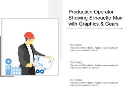 Production Operator Showing Silhouette Man With Graphics And Gears