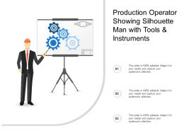 Production Operator Showing Silhouette Man With Tools And Instruments