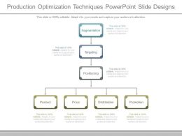 Production Optimization Techniques Powerpoint Slide Designs