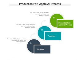 Production Part Approval Process Ppt Powerpoint Presentation Show Elements Cpb