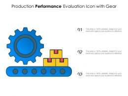 Production Performance Evaluation Icon With Gear