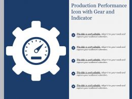 Production Performance Icon With Gear And Indicator