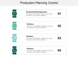 Production Planning Control Ppt Powerpoint Presentation Design Templates Cpb