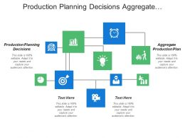 Production Planning Decisions Aggregate Production Plan Product Development