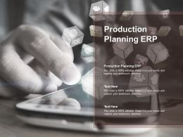 Production Planning ERP Ppt Powerpoint Presentation Icon Summary Cpb
