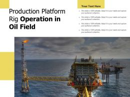 Production Platform Rig Operation In Oil Field