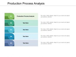 Production Process Analysis Ppt Powerpoint Presentation File Guide Cpb