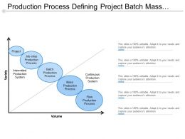 Production Process Defining Project Batch Mass And Flow