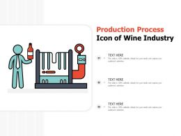 Production Process Icon Of Wine Industry