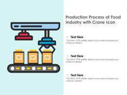 Production Process Of Food Industry With Crane Icon