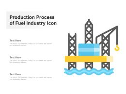 Production Process Of Fuel Industry Icon