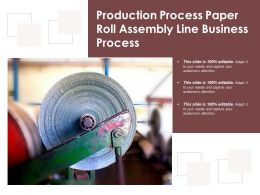Production Process Paper Roll Assembly Line Business Process