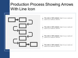 Production Process Showing Arrows With Line Icon