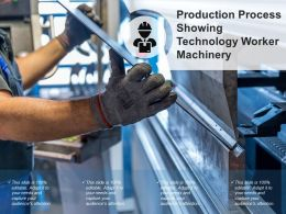 Production Process Showing Technology Worker Machinery