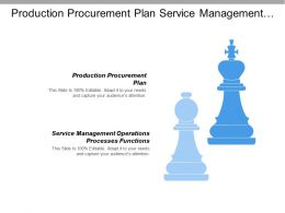 Production Procurement Plan Service Management Operations Processes Functions