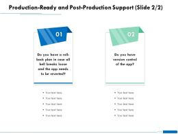 Production Ready And Post Production Support L1865 Ppt Powerpoint Introduction