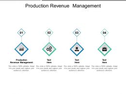 Production Revenue Management Ppt Powerpoint Presentation Professional Portfolio Cpb