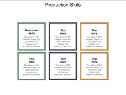 Production Skills Ppt Powerpoint Presentation Ideas Professional Cpb