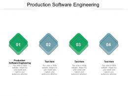 Production Software Engineering Ppt Powerpoint Presentation Infographic Template Deck Cpb