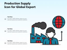 Production Supply Icon For Global Export