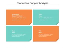 Production Support Analysis Ppt Powerpoint Presentation Professional Graphics Cpb