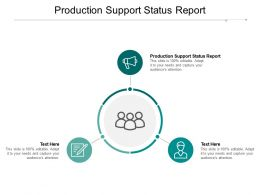 Production Support Status Report Ppt Powerpoint Presentation Gallery Introduction Cpb