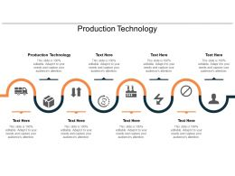 Production Technology Ppt Powerpoint Presentation Slides Icons Cpb