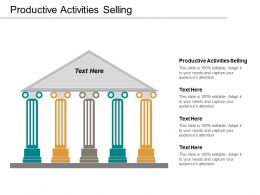 Productive Activities Selling Ppt Powerpoint Presentation Icon Model Cpb