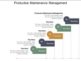 Productive Maintenance Management Ppt Powerpoint Presentation Infographic Template Themes Cpb