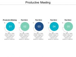 Productive Meeting Ppt Powerpoint Presentation Model Clipart Images Cpb
