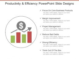 Productivity And Efficiency Powerpoint Slide Designs