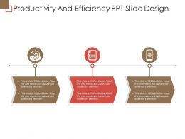 Productivity And Efficiency Ppt Slide Design