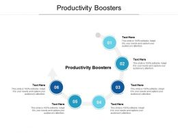 Productivity Boosters Ppt Powerpoint Presentation Gallery Structure Cpb