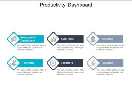 Productivity Dashboard Ppt Powerpoint Presentation Gallery Styles Cpb