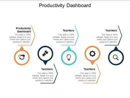 Productivity Dashboard Ppt Powerpoint Presentation Ideas Microsoft Cpb