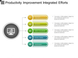 Productivity Improvement Integrated Efforts Powerpoint Layout