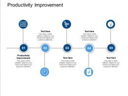 Productivity Improvement Ppt Powerpoint Presentation Ideas File Formats Cpb