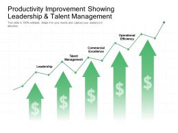 Productivity Improvement Showing Leadership And Talent Management