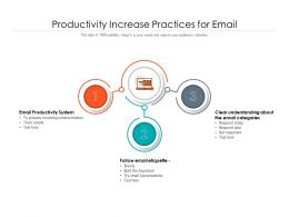 Productivity Increase Practices For Email