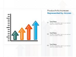 Productivity Increase Represented By Arrows