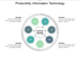 Productivity Information Technology Ppt Powerpoint Presentation Inspiration Graphics Cpb