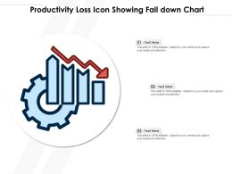 Productivity Loss Icon Showing Fall Down Chart