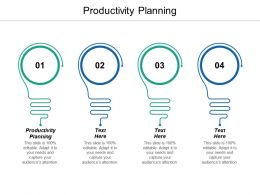 Productivity Planning Ppt Powerpoint Presentation Model Graphics Cpb