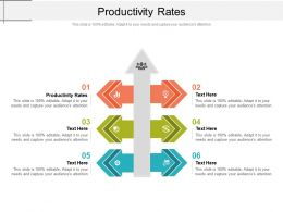 Productivity Rates Ppt Powerpoint Presentation Pictures Clipart Images Cpb