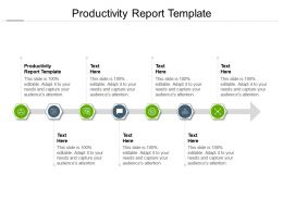 Productivity Report Template Ppt Powerpoint Presentation Outline Shapes Cpb
